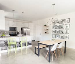Urban Retreat: modern Dining room by Brett Nicole Interiors