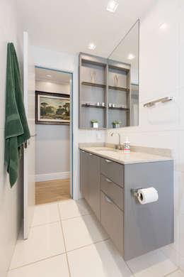 ECP | Banho: Banheiros minimalistas por Kali Arquitetura