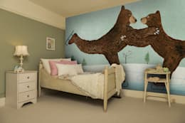 modern Nursery/kid's room by Wallsauce.com