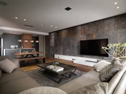 modern Living room by 木皆空間設計