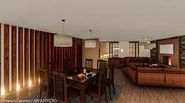 CASA JONES - PROYECTO: Comedores de estilo moderno por FRANCO CACERES / Arquitectos & Asociados