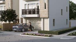 Villas at Robertson: Casas de estilo ecléctico por Banda & Soldevilla Arquitectos