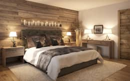 Go Interiors GmbHが手掛けた寝室
