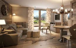 Salas / recibidores de estilo rural por Go Interiors GmbH
