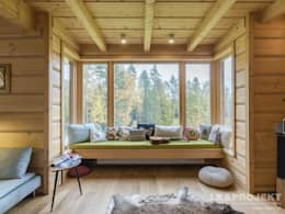 rustic Living room by LK & Projekt Sp. z o.o.