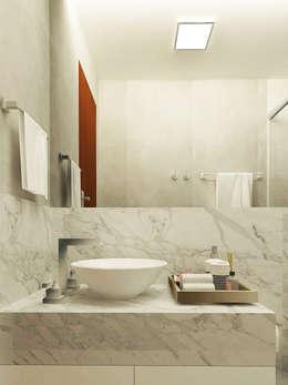 Baños de estilo moderno por Brenda Borges