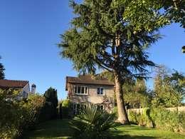 façade coté jardin, avant: Maisons de style de style Minimaliste par Eric Rechsteiner