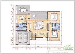 Casas de estilo mediterraneo por Компания архитекторов Латышевых 'Мечты сбываются'