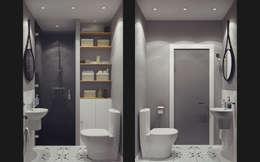 Baños de estilo moderno por Ksenia Konovalova Design