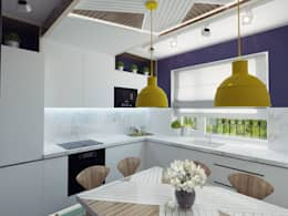Small kitchen interior design: modern Kitchen by Ksenia Konovalova Design