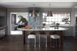 Ridgeview Showhouse: eclectic Kitchen by Christopher Architecture & Interiors