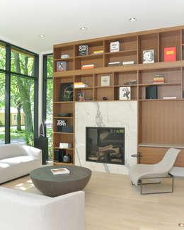 Salon de style de style Moderne par Flynn Architect