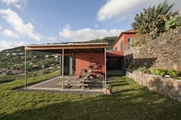 Vista Alpendre: Terraços  por Mayer & Selders Arquitectura