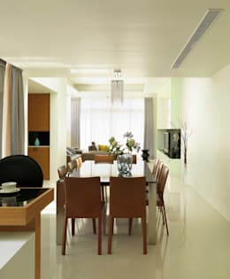 modern Dining room by ROEWUarchitecture