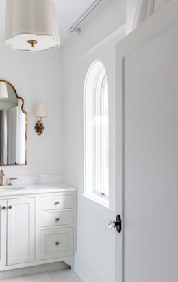 Spanish Colonial Interiors: colonial Bathroom by Christopher Architecture & Interiors