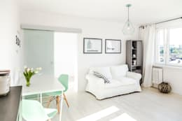 scandinavian Living room by Pasja Do Wnętrz