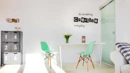 Bureau de style de style Scandinave par Pasja Do Wnętrz