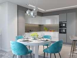 Cocinas de estilo ecléctico por Студия авторского дизайна ASHE Home