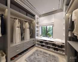 Walk in closet de estilo  por Студия авторского дизайна ASHE Home