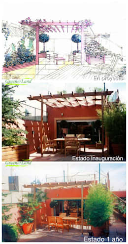 Terrace by GreenerLand. Arquitectura Paisajista y Tematización