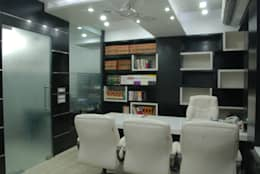 office interior: modern Study/office by kalky interior