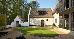 French Normandy Indian Springs Home: classic Garden by Christopher Architecture & Interiors