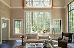 French Normandy Indian Springs Home: classic Living room by Christopher Architecture & Interiors