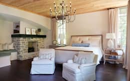 French Normandy Indian Springs Home: classic Bedroom by Christopher Architecture & Interiors