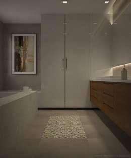 Bathroom florring tile - mosaic pattern: asian Bathroom by Vaibhav Patel & Associates
