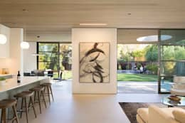 modern Corridor, hallway & stairs by Feldman Architecture