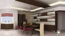 MODERN DINING DESIGN: modern Dining room by ABHISHEK DANI DESIGN