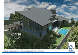 HOUSE RAMMUTLOA - Clara Anna Fontein Estate, New house 520sqm :   by BLUE SKY Architecture