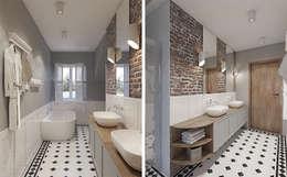 Baños de estilo rústico por Studio Projektowe Kreatura