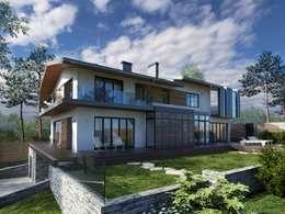 minimalistic Houses by Компания архитекторов Латышевых 'Мечты сбываются'