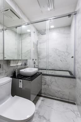 浴室:  浴室 by Green Leaf Interior青葉室內設計