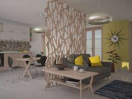 غرفة المعيشة تنفيذ Teresa Lamberti Architetto