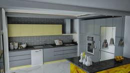Ramazan Yücel İç mimarlık  – nrgn hnm proje: modern tarz Mutfak