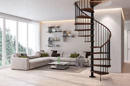 Gamia Wood: Vestíbulos, pasillos y escaleras de estilo  por Rintal