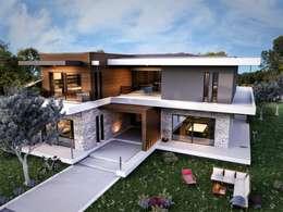 VERO CONCEPT MİMARLIK – Güzelbahçe Villa: modern tarz Evler