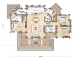 Индивидуальный дом 232 м²:  в . Автор – GOOD WOOD
