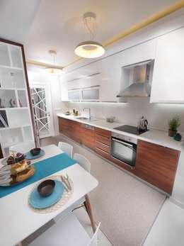 Cocinas de estilo moderno por MAG Tasarım Mimarlık İnşaat Emlak San.ve Tic.Ltd.Şti.
