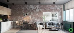 minimalistic Living room by Polygon arch&des