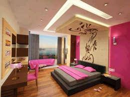 Dormitorios de estilo  por origin interiors noida