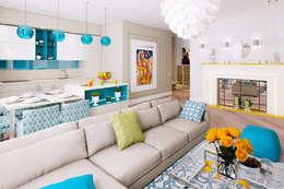 Квартира в ЖК АРТ г.Красногорск: Гостиная в . Автор – Архитектурное бюро Оксаны Костюченко & C