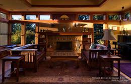 Patricia K Emmons - Rural Oregon Craftsman Home - Interior 9: moderne Schlafzimmer von Chibi Moku