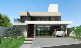 Casas de estilo moderno por P&I Arquitetura
