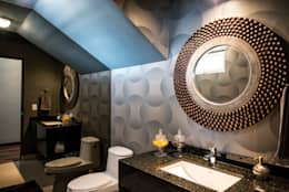 eclectic Bathroom by ESTUDIO TANGUMA