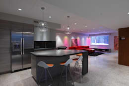 ZT Residence Interiors : modern Media room by Unit 7 Architecture