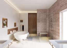 حمام تنفيذ ÜberRaum Architects