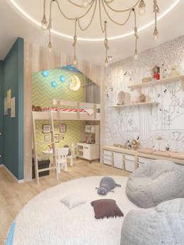 «Life in color». Двухкомнатная квартира в Подмосковье.: Детские комнаты в . Автор – Мастерская дизайна Welcome Studio